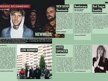 Browse magazine new music feature