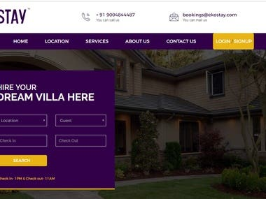 real estate booking website