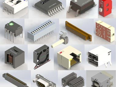 3D modelling & Rendering of Electronic components