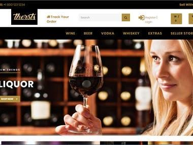 e-Commerce Website for Liquor Brands