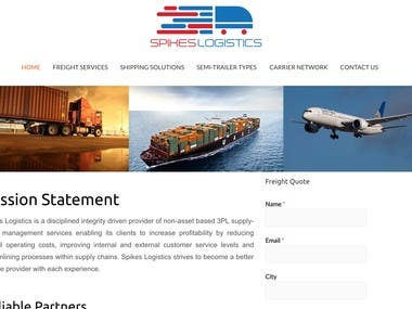 Website Design | Spike's Logistics