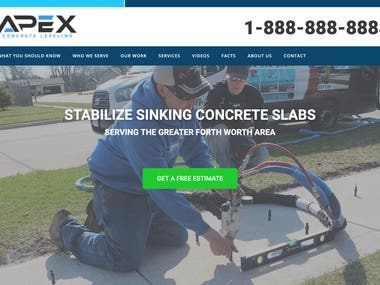 Website Design | Apex Concrete Lifting