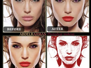 Angelina Jolie Photoshop makeup