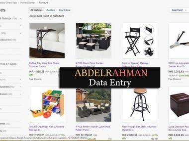 Ebay Product Data & Upload