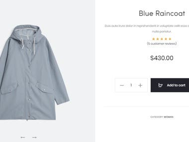 Product/Shop Page Design