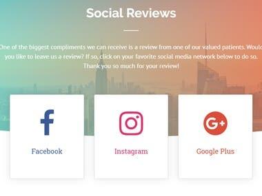 Social Buttons Design, Social Media Sharing, Reviews