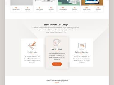 Platform for Freelance work(web logo design flyer apps)