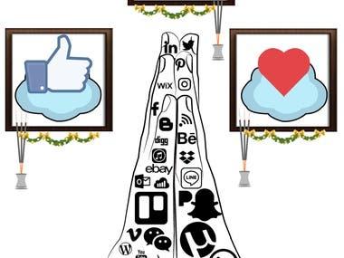 Social Media Addiction - Poster Design.