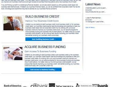 Corporate Credit Website