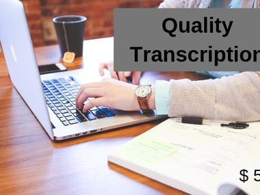 Quality transcription for videos and audios