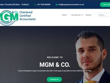 MGM Tax Accountants Website Project With Logo design