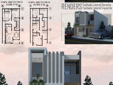 Render de Fachada de Vivienda / Render of Housing Facade