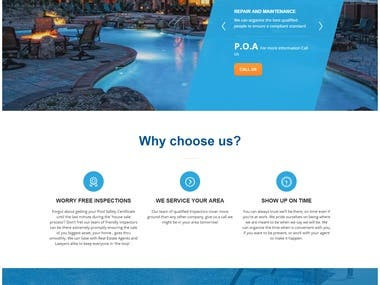 Swimming Pool Website