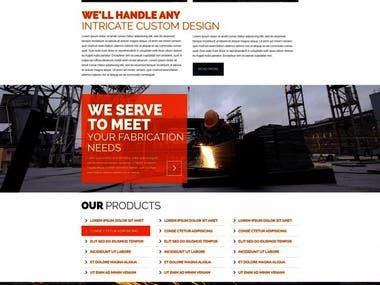 Responsive parallax website