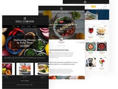 Parallax responsive website