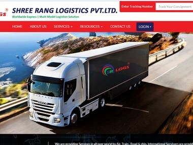 Transport Company Website And Tracking System