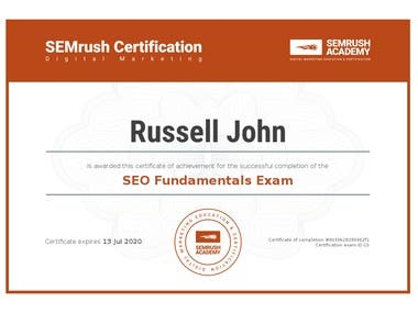 Certified SEMrush Professional