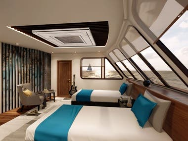 Proposed yatch interior