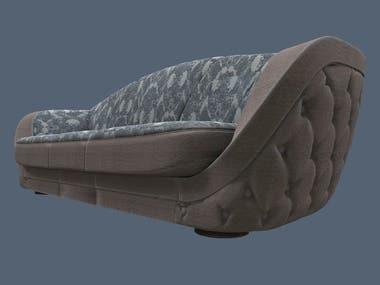 Modelado 3d de mueble a medida, texturizado personalizado