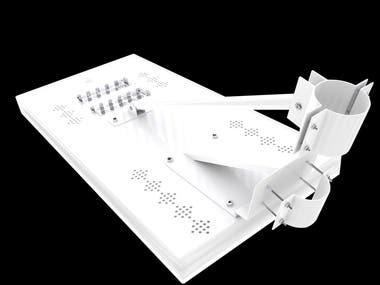 Modelado 3d Lampara alumbrado público