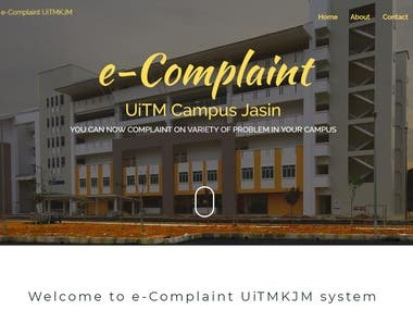 e-Complaint System built with Laravel Framework.