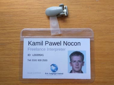 My translator and interpreter ID - DA Languages
