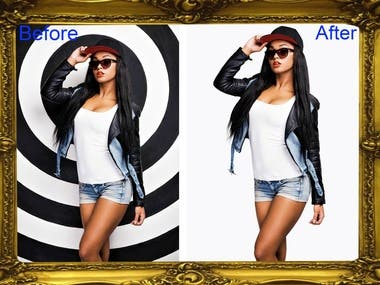 Background remove and hire masking