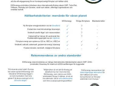 Translation of EKOenergy's leaflet into Swedish.