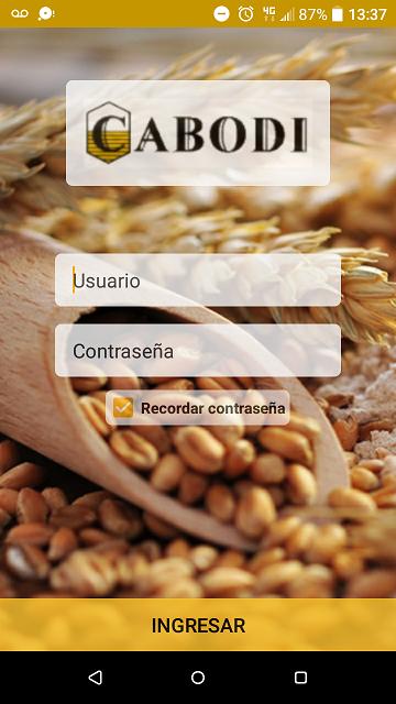 App Android para Molinos Cabodi