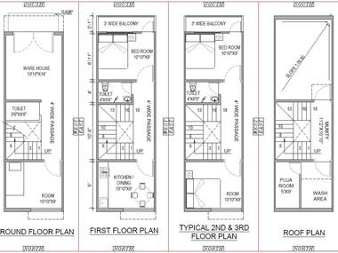 Residential Plot Concept Plan and elevation