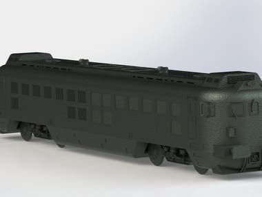 3D modeling of Locomotive