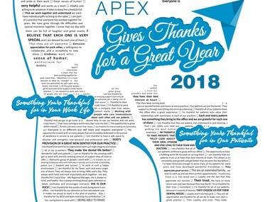 APEX GIVES THANKS - POSTER DESIGEN
