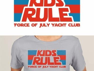 KIDS RULE - SHIRT DESIGEN