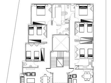 plans Autocad & section