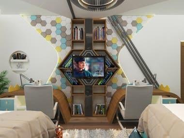 Children's bedroom Dr.natali ,new cairo