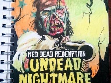 Red Dead Redemption Ink Artwork