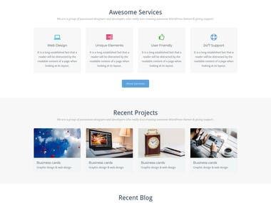 set up a wordpress site