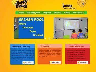 Website Development Of www.happybees.in