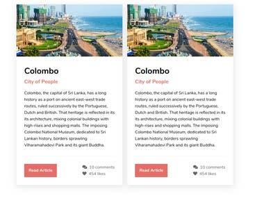 Web Site Component Designs