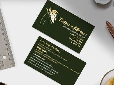 Business card and professional logos