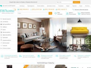 Furniture Online Store | WordPress website