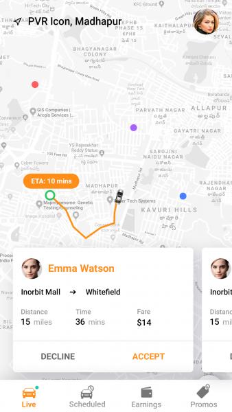 Corbata: Ride-sharing app