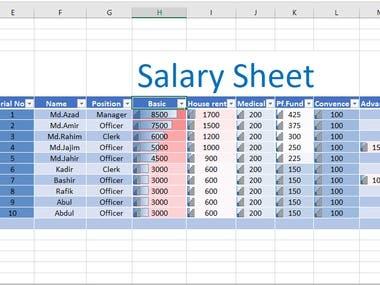 salary -sheet