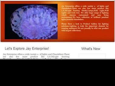 Website development of Jayenterprise