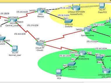 Cisco Packet Tracer Advanced Topology