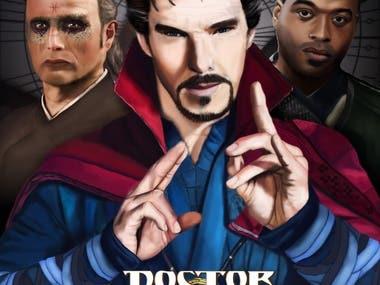 Dr Strange illustration