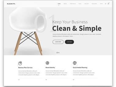 Responsive simple website template.