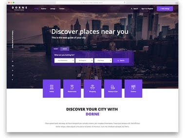 Another html template