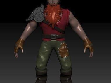 High Poly Dwarf Warrior