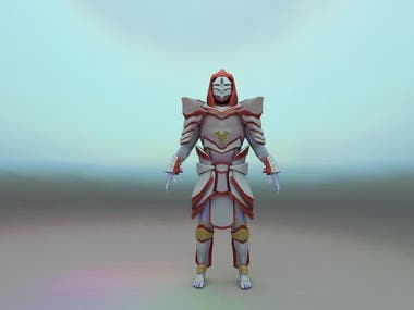 Game Ready Mage character